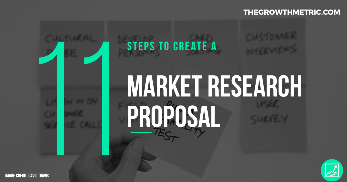 how to create a market research proposal