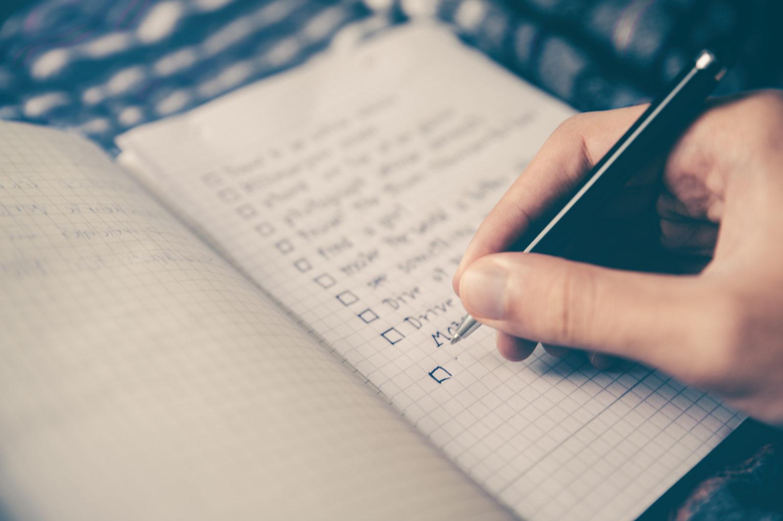 market research proposal checklist